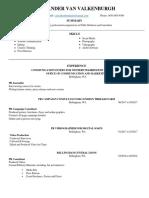 alex van valkenburgh resume