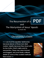 Martyrdom of Jesus Apostles and the Resurrection of Jesus