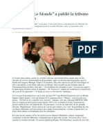 """Le jour où """"Le Monde"""" a publié la tribune de Faurisson - Ariane Chemin"""