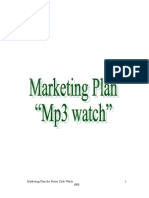 Marketing Plan of Mp3 Watch Self Made Product