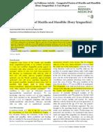 2.Ismail Yazdi Anda Amir Hossein Fakhraee Congenital Fusion of Maxilla and Mandible (Bony Syngnathia) a Case Report