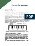 Lección 1 piano