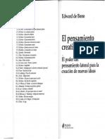 EL PENSAMIENTO CREATIVO - EDWARD DE BONO.pdf