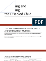 Examining and Evaluating the Disabled child