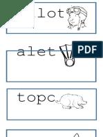 Vocabulario Con t