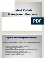 Kuliah Manajemen Bencana 2018 on Line
