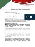 ley Organica de La Administracion Publica Del Estado de Chiapas.
