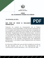 Reglamento del Sistema del Penitenciario Cubano