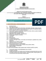 PS Edital 2019 Conteúdos Programáticos