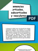 Demencias Corticales y Subcorticales