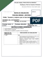 Evaluaciones Institucionales Historia 4 u3