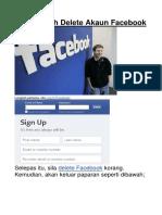 Cara Mudah Delete Akaun Facebook
