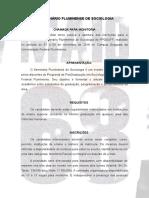 Cahamada de Monitoria - IV Seminario Fluminense de Sociologia