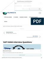 Best Interview Questions for SAP HANA 2017_myTectra