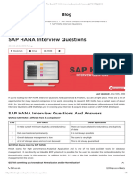 The Best SAP HANA Interview Questions & Answers [UPDATED] 2018