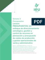 PRESUPUESTOS, Un enfoque de direccionamiento estratégico, gestión y control de recursos en planeacion.pdf