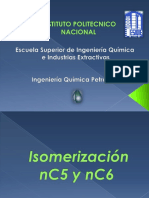 isomerización nc5 y nc6