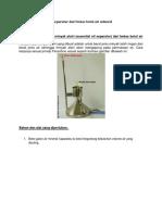 Membuat Essential Oil Separator Dari Bekas Botol Air Mineral