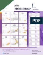 2017 MCAT Calendar PDF Final