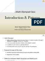 1 - Introduction and Patterns in Math