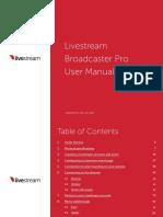Livestream Broadcaster Pro User Manual