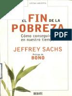 El Fin de La Pobreza, Jeffrey Sachs