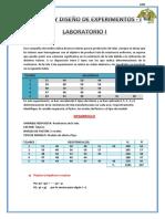 Análisis y Diseño de Experimentos i