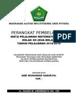 Perangkat Pembelajaran MAT WAJIB 2018-2019