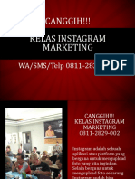 CANGGIH!!! Kelas Instagram Marketing, WA/SMS/Telp 0811-2829-002