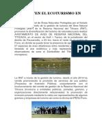 Promueven El Ecoturismo en Puno
