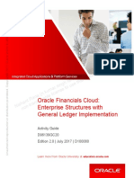 Oracle Financials Cloud - Enterprise Structure