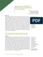 Estrategias Educativas Para Abordar Lo Ambiental. Experiencias en Escuelas de Educación Básica en Chiapas.