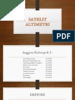 Prinsip Kerja Satelit Altimetri