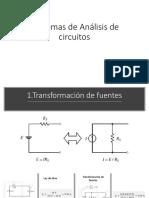 Teoremas de Análisis de Circuitos