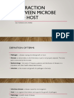 Interaction Between Microbe and Host