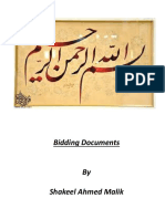Std Form of Bidding Docs (Civil Work)