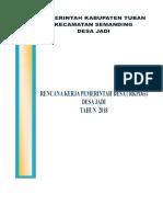 RKP Des 2018 Desa Jadi