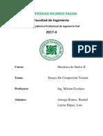 Informe Laboratorio n4 - Ensayo Triaxial  suelos 2