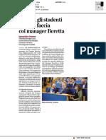 Urbino, gli studenti faccia a faccia con i manager Beretta - La Provincia di Lecco del 23 ottobre 2018