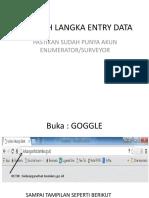 Langkah Langka Entry Data