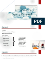 Equity Research Pharmaceutical Sector