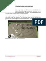 Cara Membuat Es Krim Coklat Sederhana
