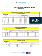 DIN ISO 2768-1 Mesure Tables