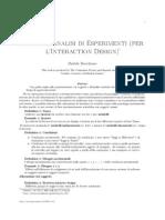 Design e Analisi Di Esperimenti