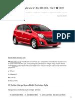 Rental & Sewa Daihatsu Ayla Harian Murah ☎ 0821 1313 0173 TravelBos.id