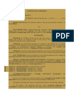 Sample Construction Agreement