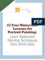 Watercolor Portrait eBook[1] 23 Lessons