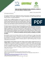 Carta Abierta Presidente Pedro Sánchez
