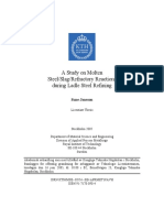 3. a Study on Molten Steel,Slag,Refractory Reactions During Ladle Steel Refining
