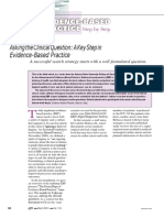 Artikel 1. Asking the Clinical Question a Key Step in EBP-converted
